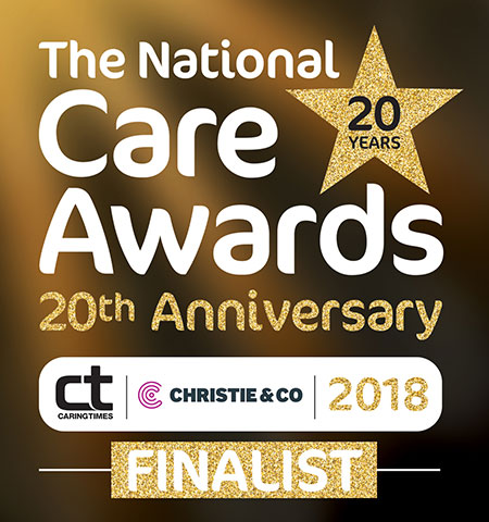 We're nominated in the 20th Anniversary National Care Awards
