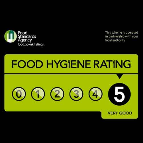 5 star food hygiene at the New Deanery Residential care home in Essex