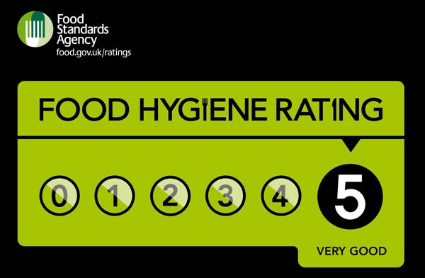 Find out more about our provision of food hygiene - we're 5 star rated