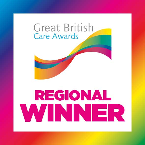 We were Regional Winners at the British Care Awards 2021